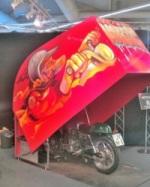 Eine individuelle Garage für das Motorrad